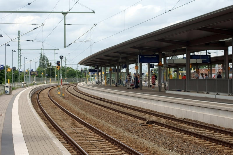 Station Wittenberge stockfotografie