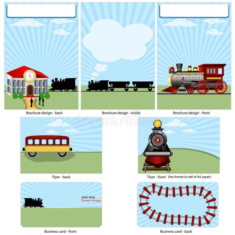 Stationaire de trein van de stoom royalty-vrije illustratie