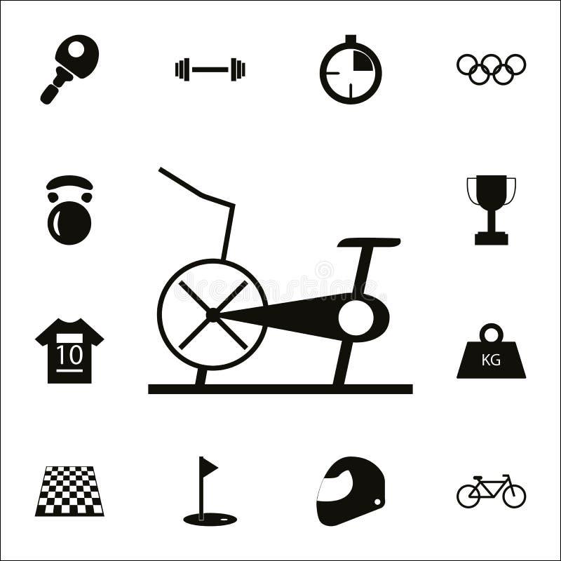Stationaire fiets, Hometrainerpictogram Gedetailleerde reeks Sportpictogrammen Grafisch het ontwerpteken van de premiekwaliteit É vector illustratie