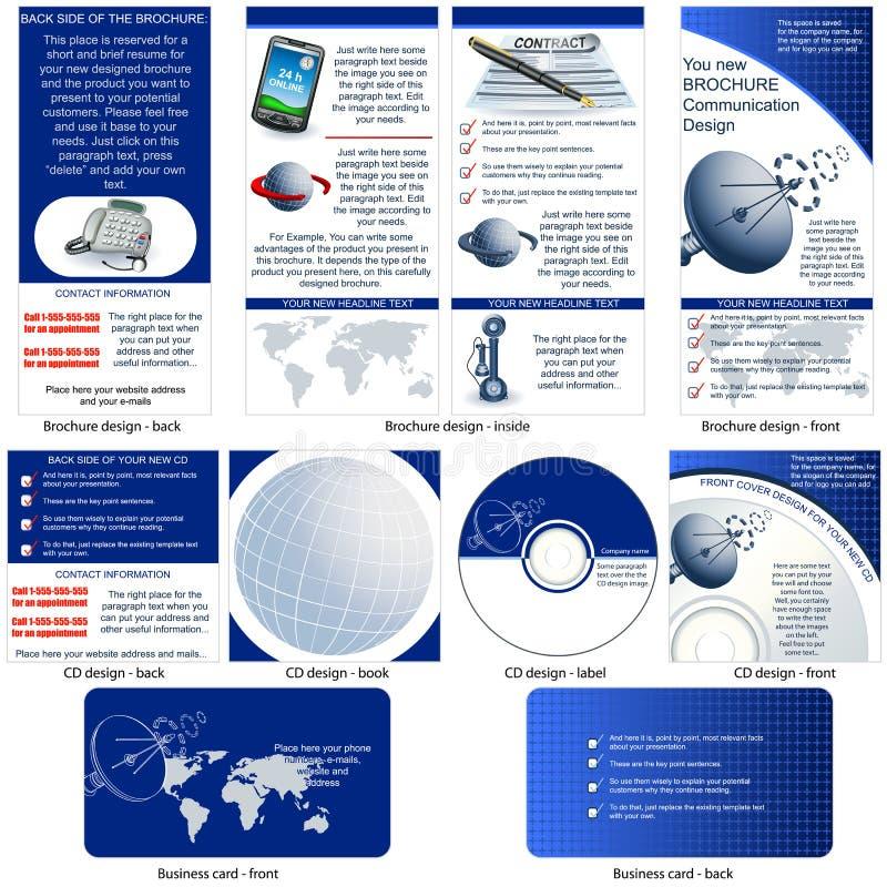 Stationaire mededeling vector illustratie