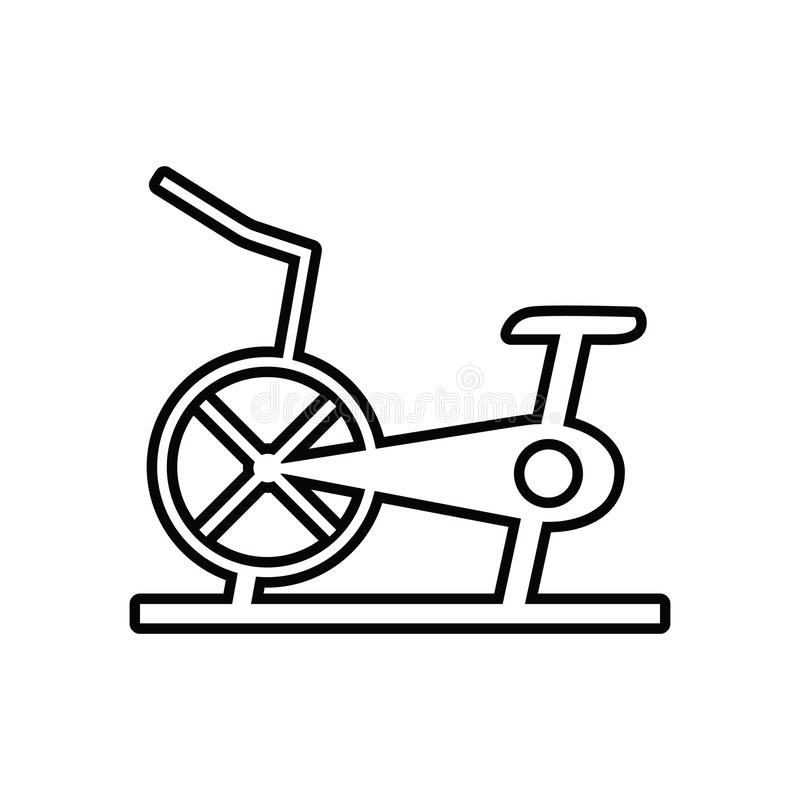 Stationary bicycle, Exercise Bike icon. Element of Sport for mobile concept and web apps icon. Outline, thin line icon for website vector illustration