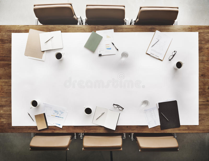 Stationary Office Aerial View Administration Concept stock photo