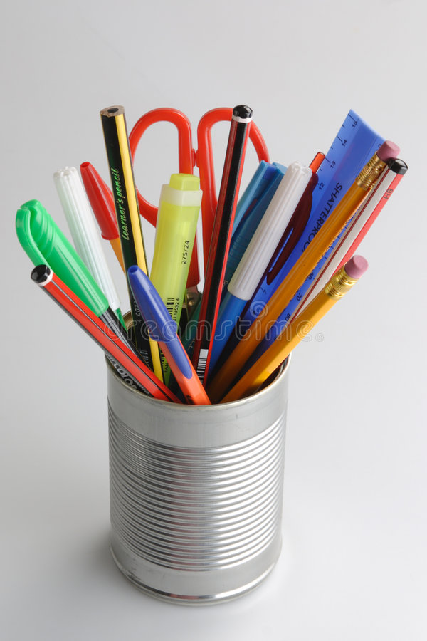 Download Stationary organiser stock photo. Image of marker, pencil - 8956120