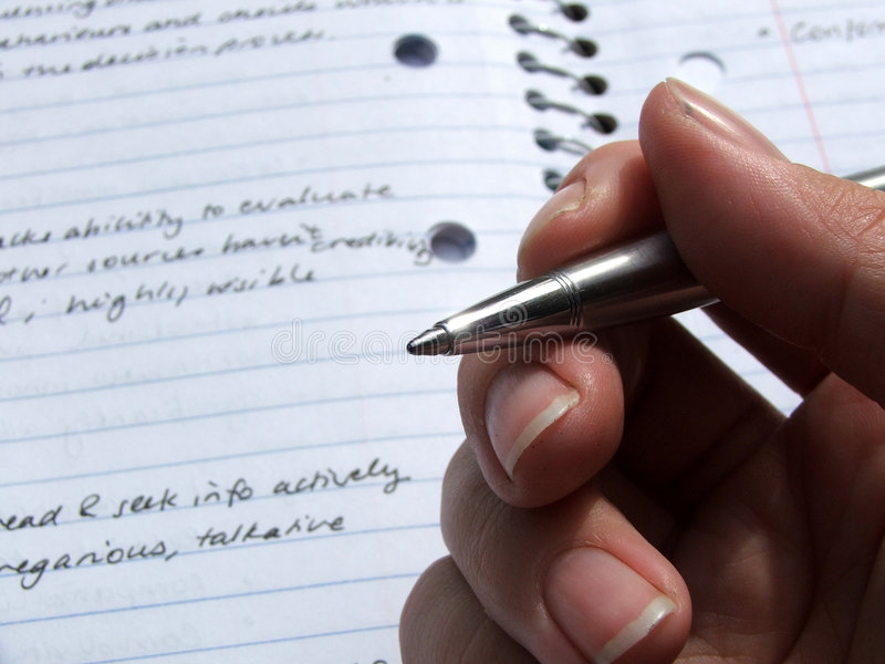 Download Stationary - Pen Held In Hand Royalty Free Stock Photos - Image: 183318