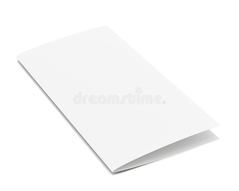 Stationary positioned two fold paper brochure. royalty free stock image