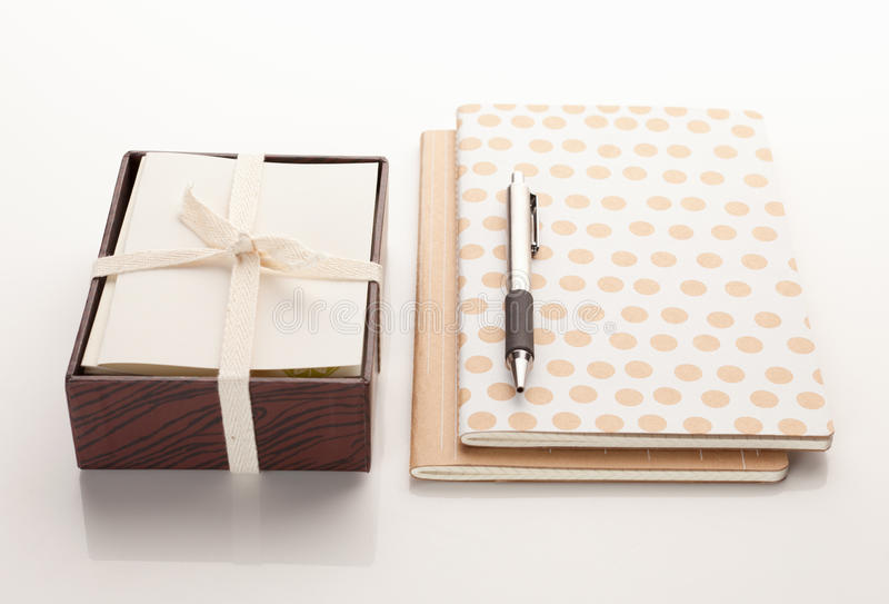 Download Stationary With Two Notebooks And A Pen Stock Image - Image: 26833401