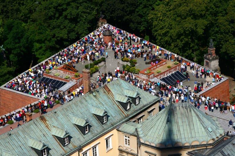 Stationen des Kreuzes in Czestochowa-Kloster stockfotografie