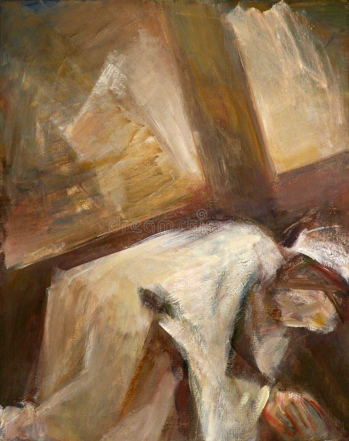 Stationen des Kreuzes, Jesus-Fälle das zweite mal lizenzfreies stockbild