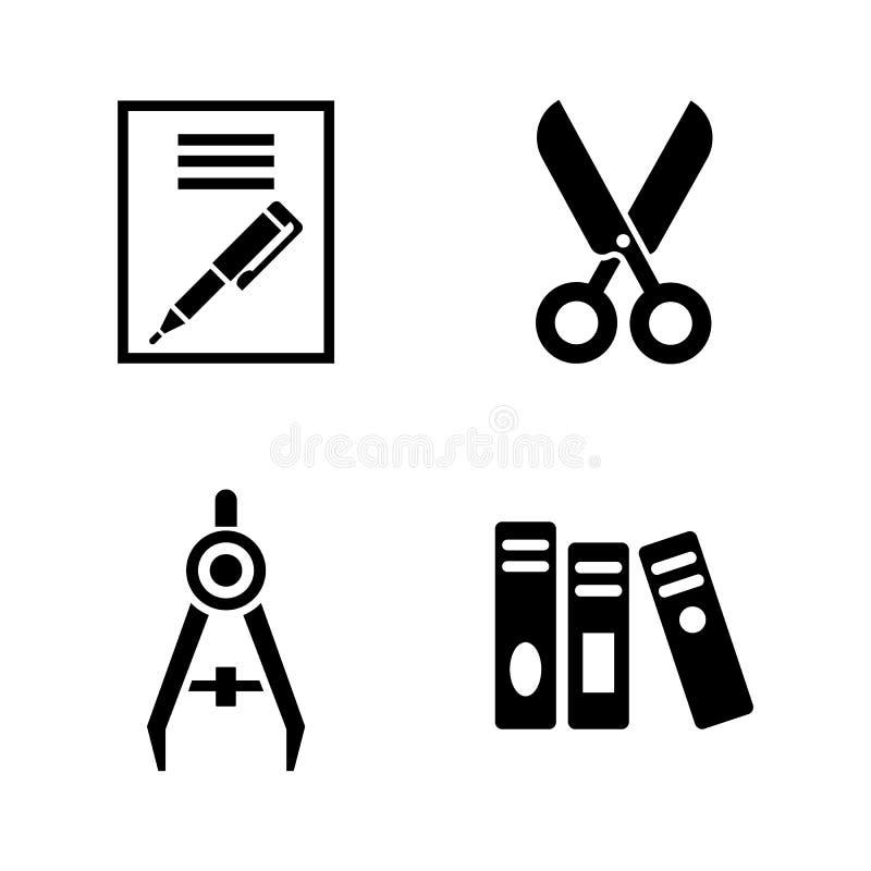 stationery Ícones relacionados simples do vetor ilustração do vetor