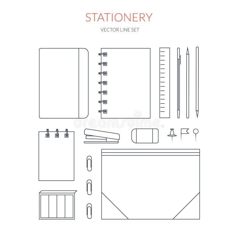 stationery ilustração royalty free