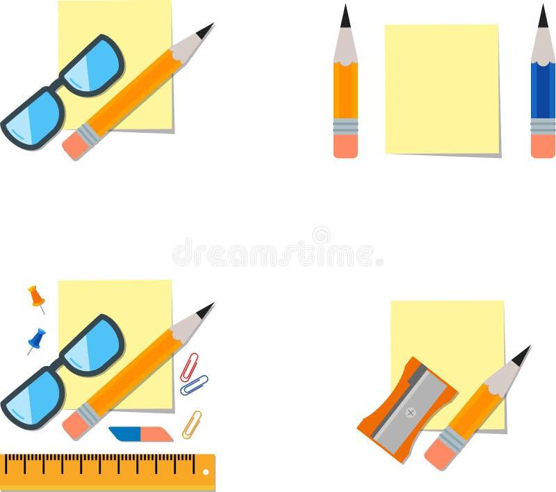 stationery ilustração stock