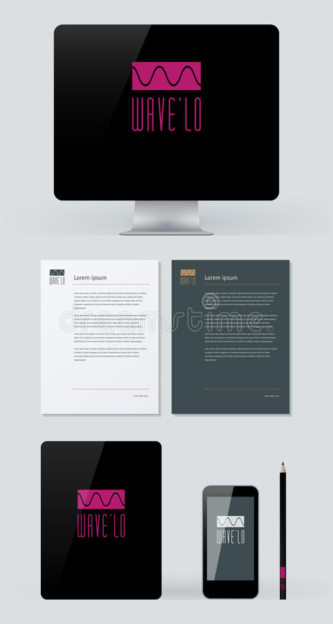 Stationery, Branding Mock-Up Royalty Free Stock Photos