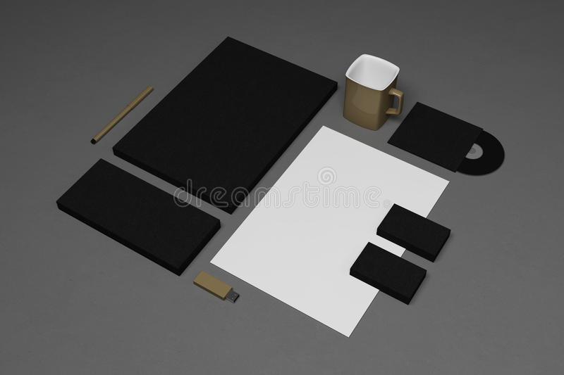 Stationery corporate template design. Corporate stationery template design set stock illustration