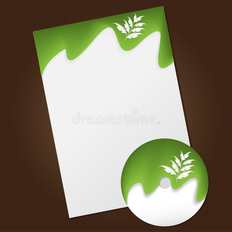 Stationery design set royalty free illustration