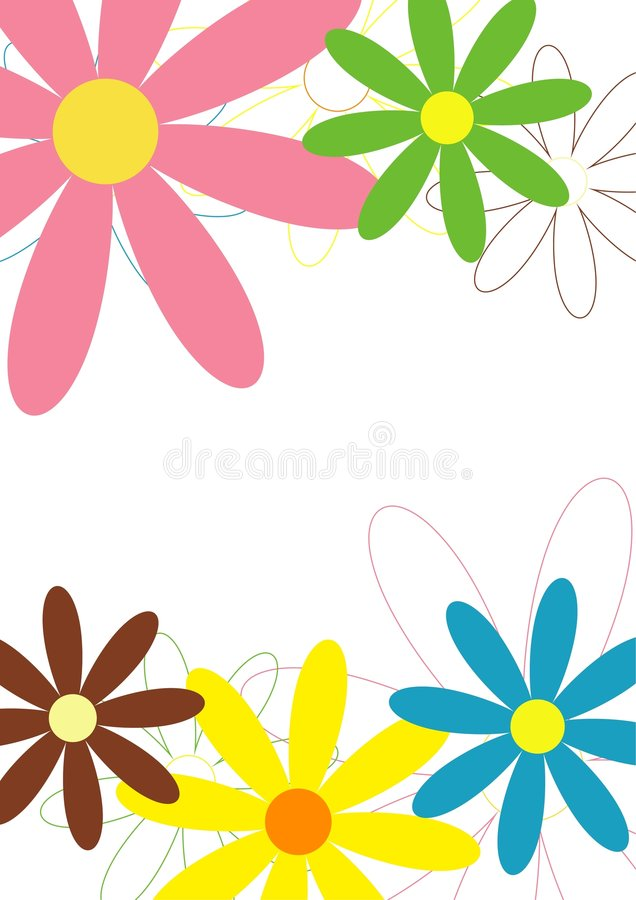 Stationery: Floral design royalty free stock photography