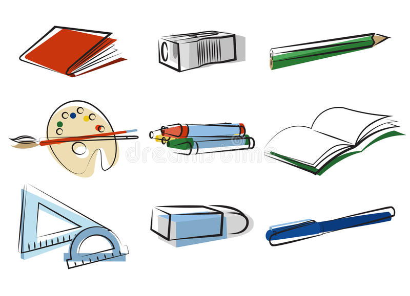 Download Stationery object vector stock vector. Illustration of book - 10856263