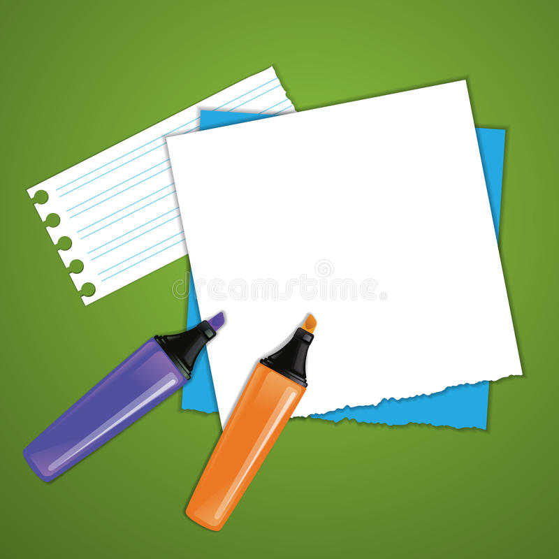 Stationery objects. Office style. Vector image. royalty free stock photo