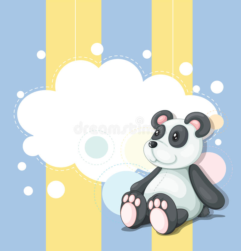 A stationery with a panda vector illustration
