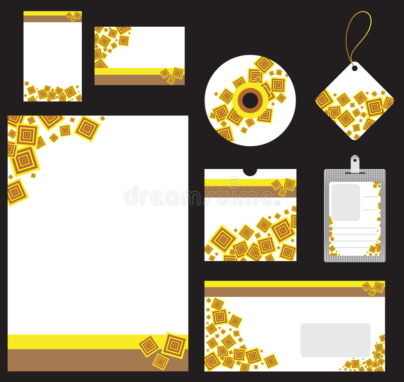 Download Stationery Set For Company Vector Format Royalty Free Stock Images - Image: 24684859