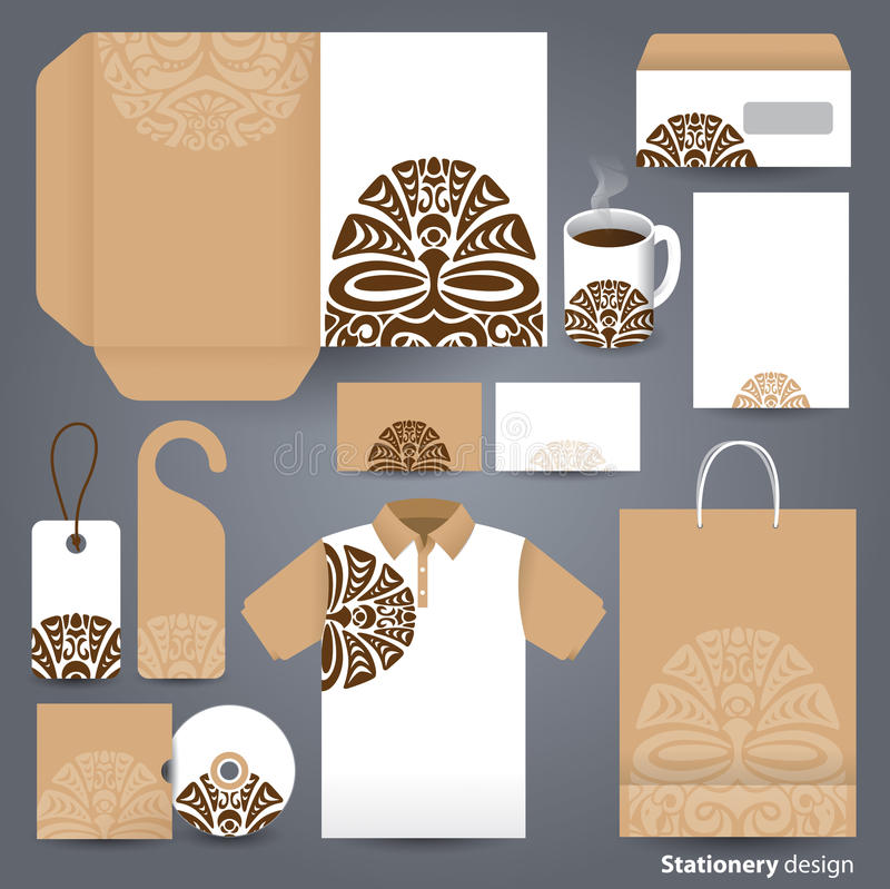 Stationery set design / Stationery set template. Stationery set design / Stationery set template / Corporate identity design vector stock illustration