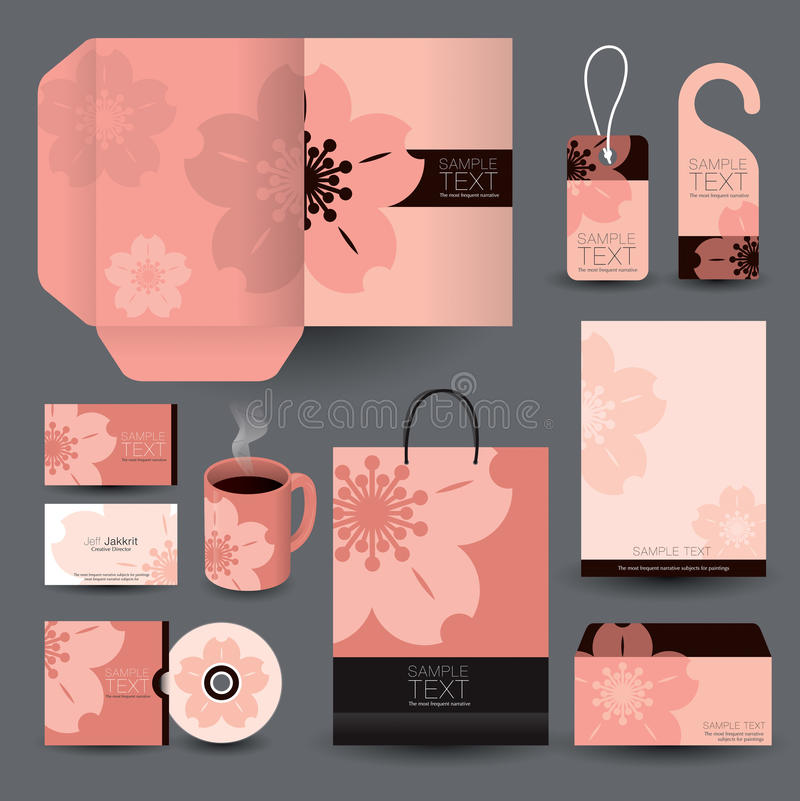 Stationery set design / Stationery template. Stationery set design / Stationery template / Corporate identity design vector illustration