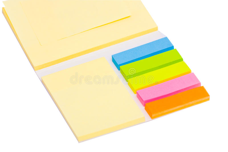 Stationery Set Over White Stock Images