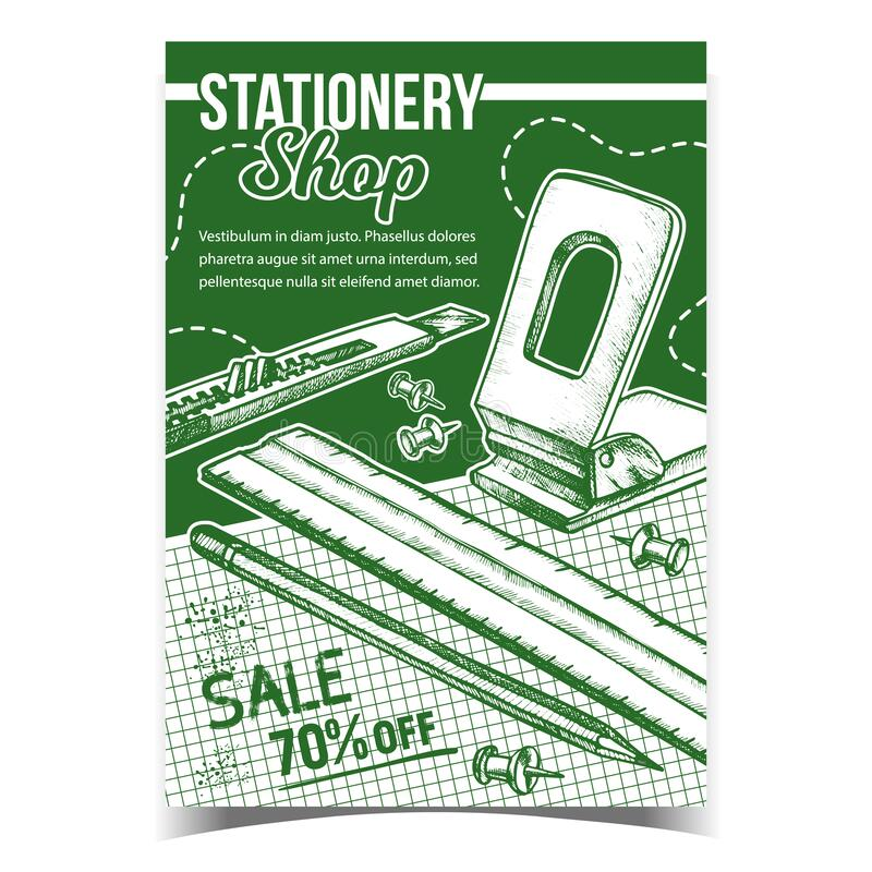 Business Stationery Mock Up Poster Top View