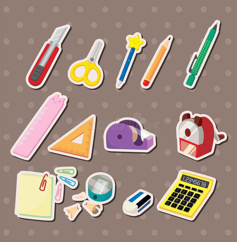 Free Stationery Stickers Stock Photos - 27098013