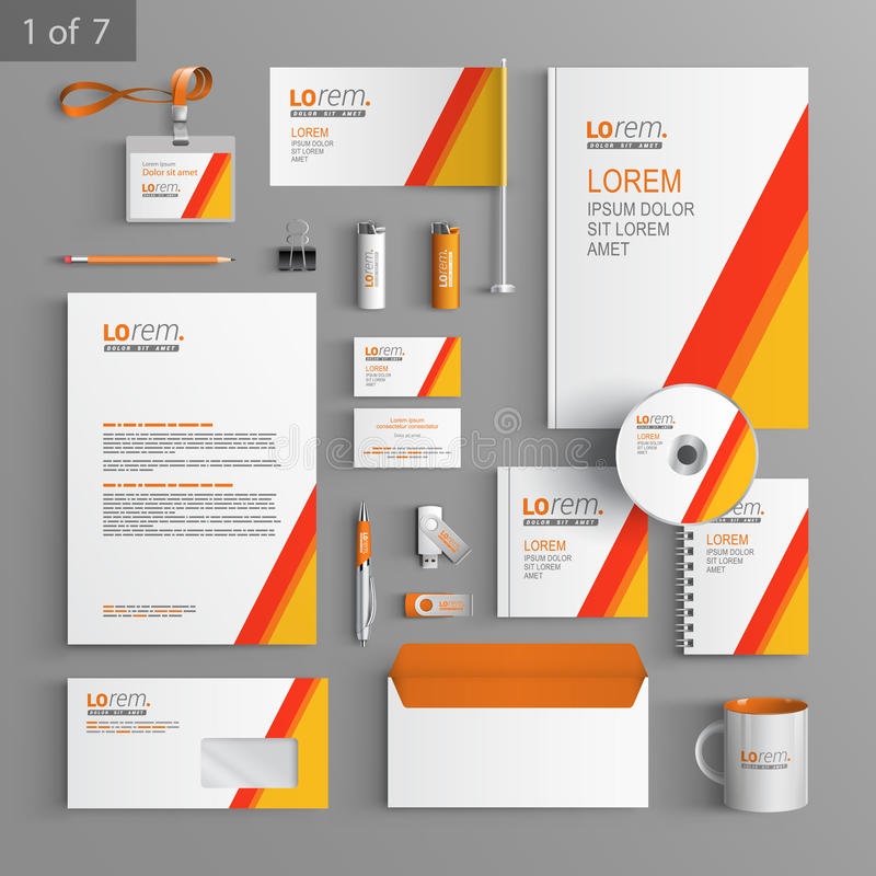 Free Stationery Template Design Stock Photo - 54589370