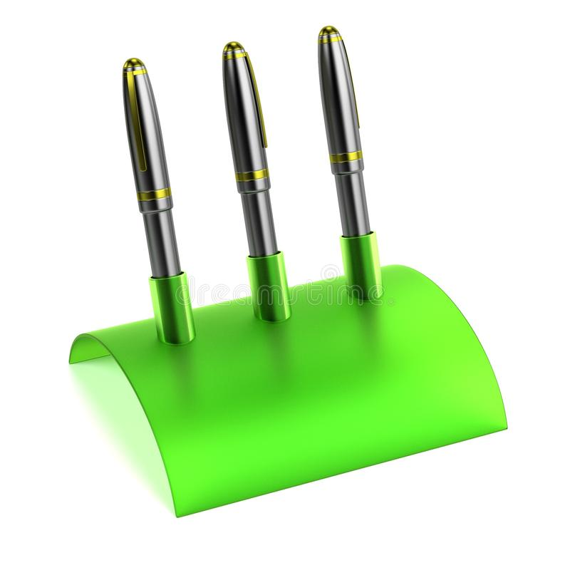 Stationery Tool - Pen Holder Stock Illustration