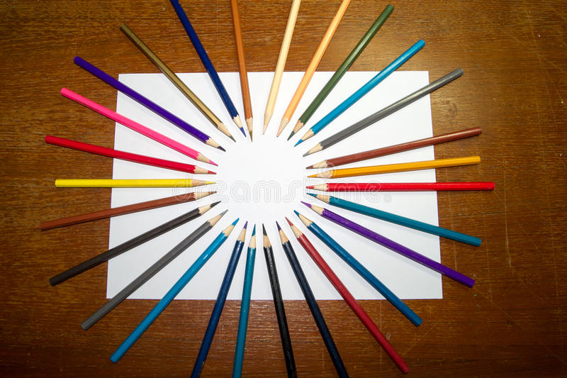 Stationery Used to paint the art. royalty free stock image