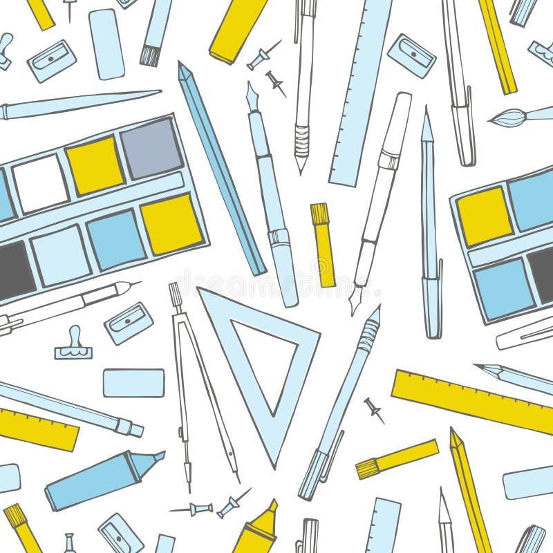 stationery  Vector o teste padrão sem emenda ilustração royalty free