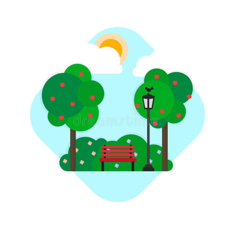 Stationnement illustration stock