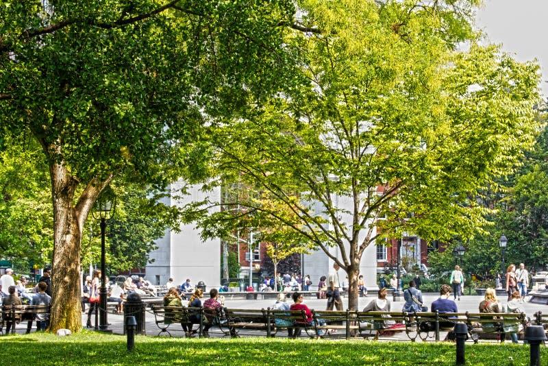 Stationnement carré de Washington images libres de droits