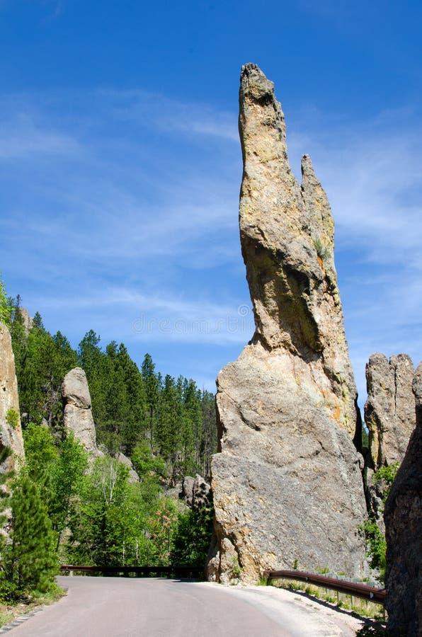 Stationnement d'état de Custer, Black Hills, le Dakota du Sud, Etats-Unis image libre de droits