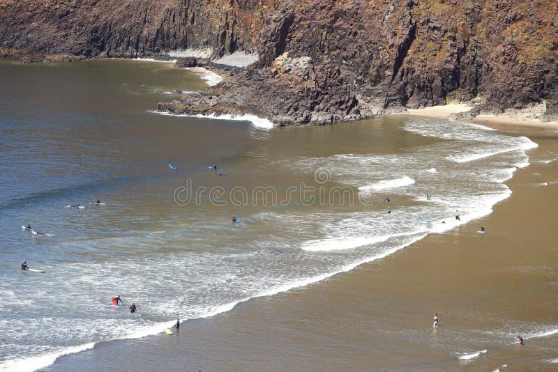 Stationnement d'état indien d'Ecola de plage, côte de l'Orégon. photographie stock libre de droits