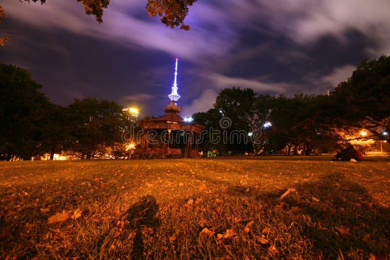 Stationnement d'Auckland la nuit photos libres de droits