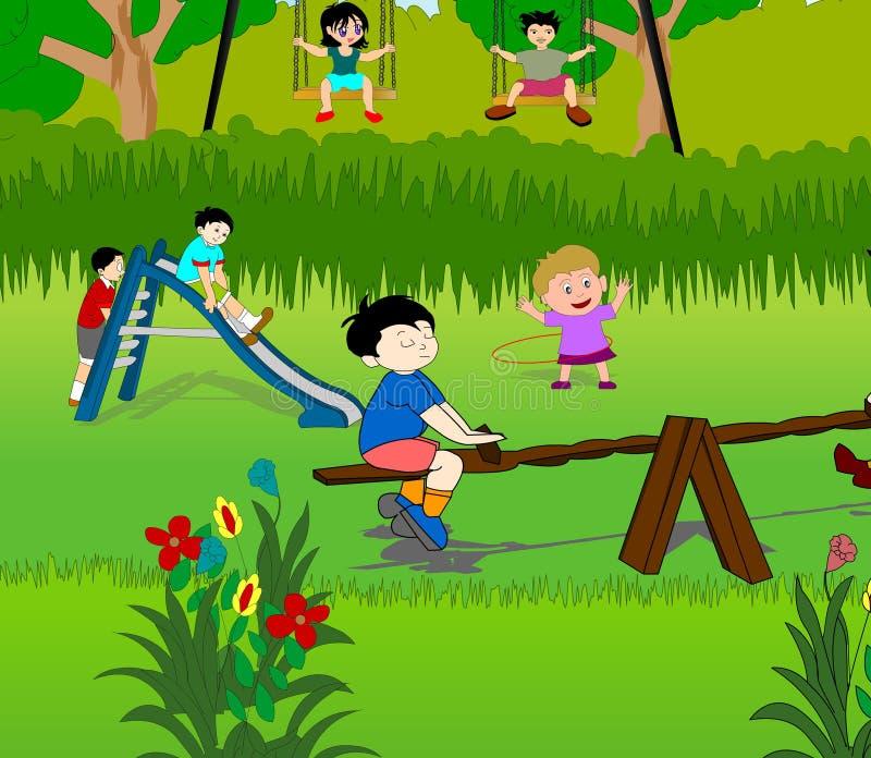 Stationnement d'enfants illustration libre de droits