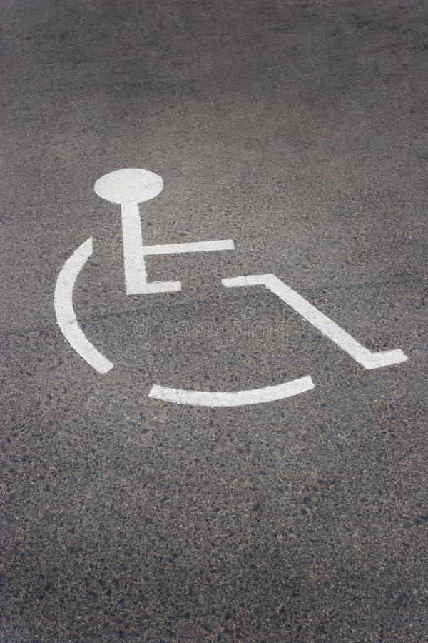 stationnement d'handicap images libres de droits