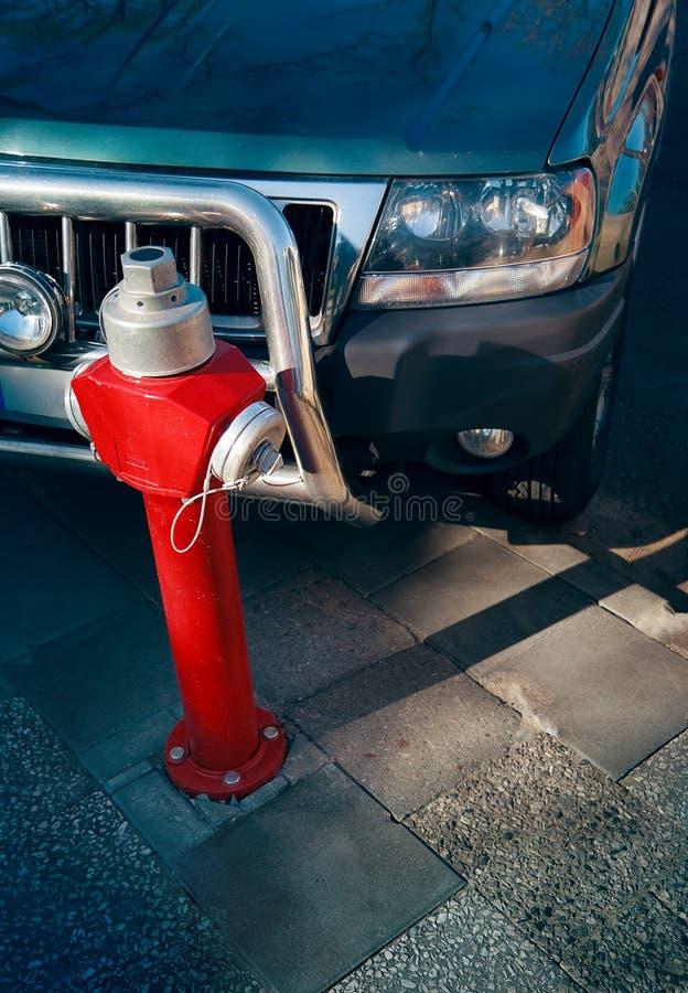 Stationnement de bouche d'incendie photos stock