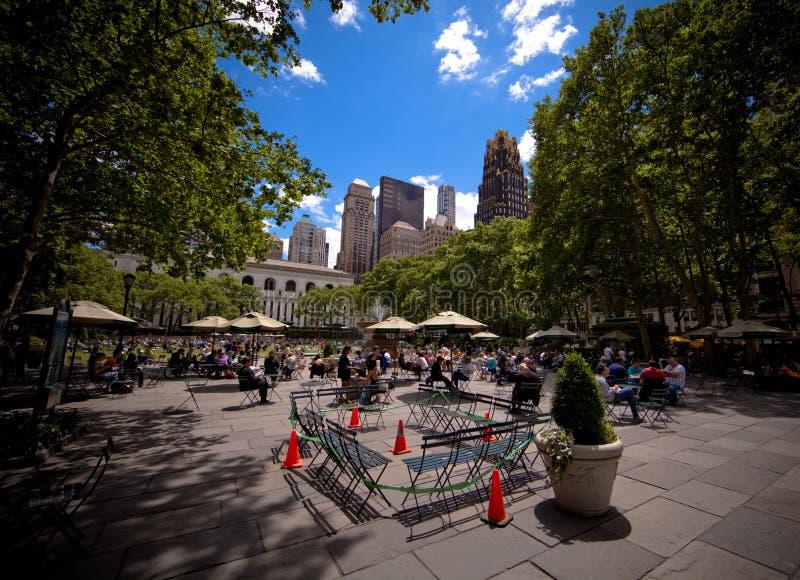 Stationnement de Bryant à Manhattan à New York City image libre de droits