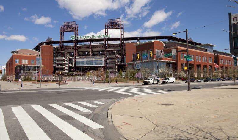 Stationnement de côté de citoyens de Philadelphie Phillies photo libre de droits