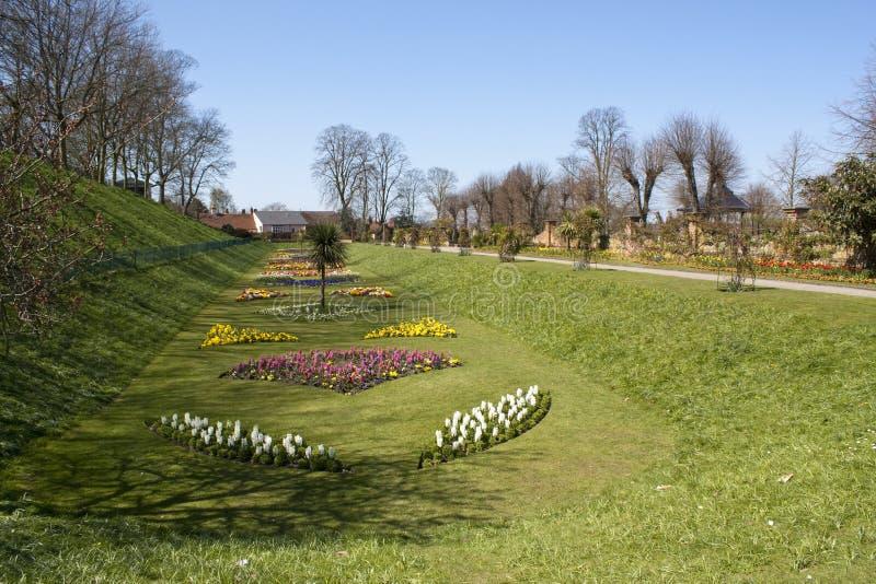 Stationnement de château dans Colchester photo stock