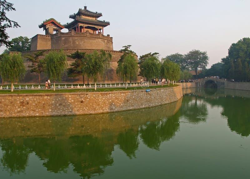 Stationnement de CongTai dans la ville historique Handan Chine image stock