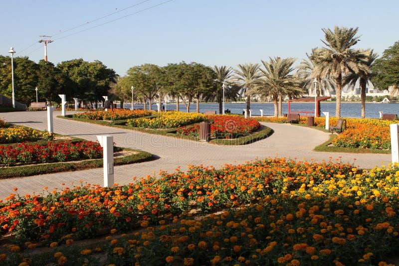 Stationnement de Dubai Creek photos libres de droits