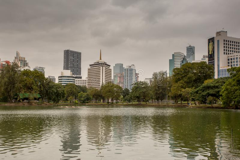 Stationnement de Lumphini à Bangkok images libres de droits