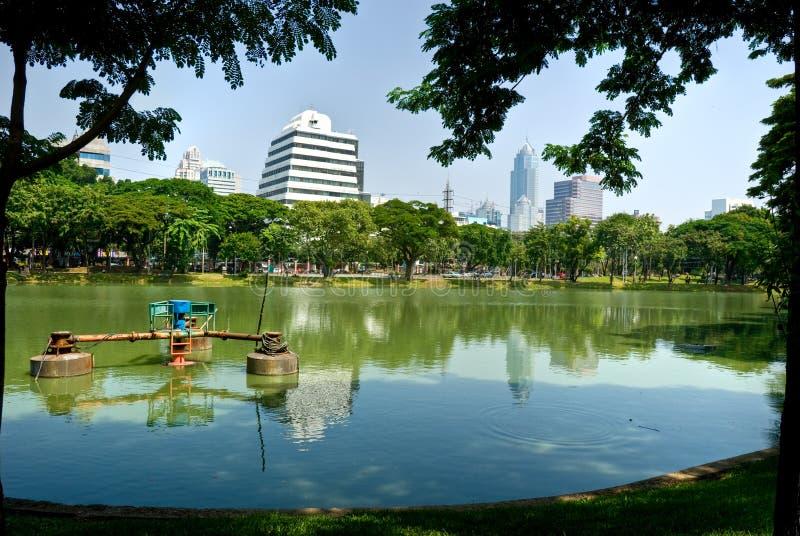 Stationnement de Lumpini, Bangkok, Thaïlande. images stock