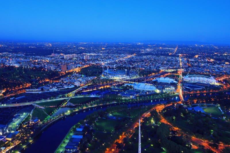 Stationnement de Melbourne - arènes de sports photo libre de droits