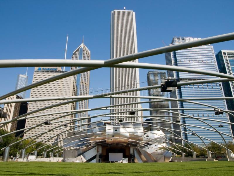 Stationnement de millénaire de Chicago, pavillon de Jay Pritzker images stock