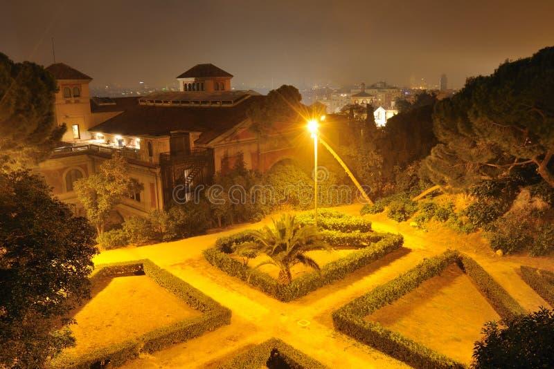 Stationnement de Montjuic, Barcelone photographie stock libre de droits
